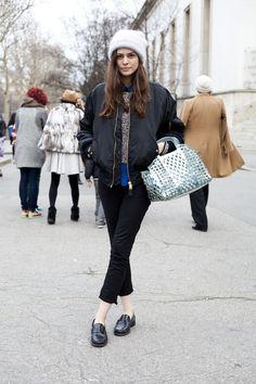 Streetlooks à la Fashion Week de Paris S/S 2013