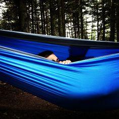 .@kikaitken | Peekaboo! Camping Rivière-du-loup :). #camping #treklight #hammock #summer