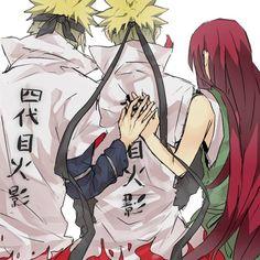 Minato, Naruto and Kushina <3