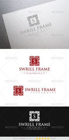 Swrill Frame by yakdesigner Excellent logo nice, simple, memorable and unique that can be used for your business, blog, sites, social networks,Printing, Graph