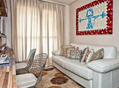 Apartamento pequeno. Sala de estar www.comprandomeuape.com.br