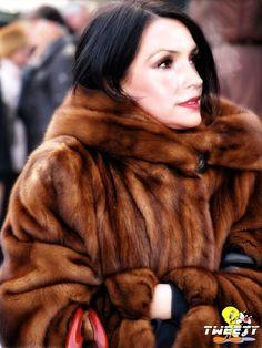 """tweetycelibritiesinfur: """" Famke Janssen in mink fur coat (request by xenia-onatopp-wins) """""""