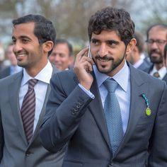 Rashid bin Dalmook bin Juma Al Maktoum (@rasheddalmook) y Hamdan bin Mohammed bin Rashid Al Maktoum, Newmarket, 05/2015. Foto: ali_essa1
