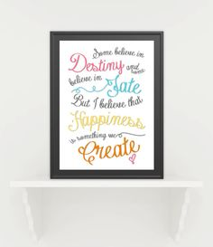 Happiness Print  by CoCoStineDesigns on Etsy, $15.00