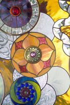 contemporary stained glass by a North Carolina glass artist: Cheryl Stippich