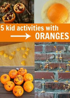 5 kid activities using oranges.