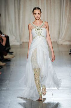 A flowy gown from Marchesa
