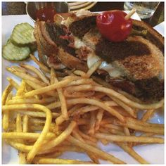 Summit Grill and Bar -  Bring your appetite when you order the Corned Beef Brisket Reuben with sauerkraut, swiss cheese and marble rye bread!