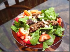 Flank Steak Strawberry Salad