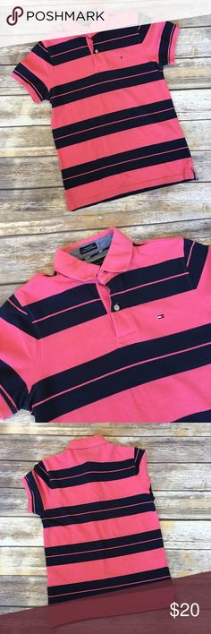 🔴Men's Tommy Hilfiger Striped Polo Shirt Men's Tommy Hilfiger Striped Polo Shirt size XS Tommy Hilfiger Shirts Polos