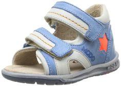 MODALU() Ideo 345700-10 - Sandalias de cuero para bebé niño, color azul, talla 25