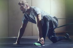 Chris Robshaw, professional English rugby player training in Nike Zoom Speed Trainer 3.