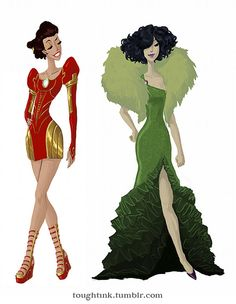 avengers gowns- Iron Man and The Hulk inspired