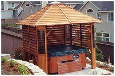 pergolas for hot tubs | ... , decks , pergolas, hot tub privacy and so much more! - Photo Gallery