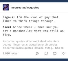 Magnus And Alec, Magnus Chase, Angels Blood, Funny Note, Will Herondale, Shadowhunters Malec, Alec Lightwood, Percy Jackson Fandom, The Infernal Devices