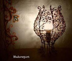 Veioza din cupru handmade by hadarugart