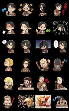 画像 - Attack on Titan Animated Stickers by Kodansha Ltd. - Line.me