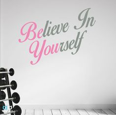 Believe In Yourself. Premium Inspirational by DesignDivilFitness