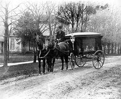 F. M. Sonday's horse-drawn hearse, Churubusco, IN