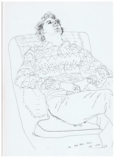 hockney contour line drawing - Google Search