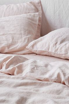 Ultra luxurious pure French linen quilt cover in Blush Pink Bedding, Luxury Bedding, Bedding Sets, Shabby, Zara Home, Black Bed Linen, Decoration Bedroom, Bed Linen Design, Design Bedroom