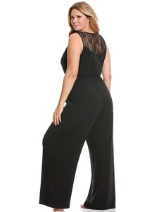 Tru to You lace back jumpsuit by Cacique | Lane Bryant