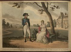 Napoleon, when first consul, & madame Josephine, (his first wife) in the Garden at Malmaison by George Cruikshank, 1824 (Copyright 2009, Department of Special Collections, Memorial Library, University of Wisconsin-Madison, Madison, WI)