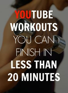 Here are some YouTube workouts you can finish in less than 20 minutes! #Fitgirlcode #workout #youtubte