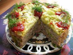 Tort gołąbkowy - PrzyslijPrzepis.pl Meatloaf, Food, Recipes, Essen, Recipies, Meals, Ripped Recipes, Yemek, Cooking Recipes