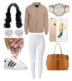 """""""2 cute"""" by liljawn-1 ❤ liked on Polyvore featuring beauty, Rut&Circle, adidas, Michael Kors and MCM"""