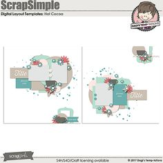 Hot Cocoa Digital Scrapbook Templates by Dagi's Temp-tations