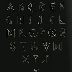 Alphabet self improvement writing fonts, fonts, art deco fon Alphabet Code, Alphabet Symbols, Hand Lettering Alphabet, Calligraphy Letters, Alphabet Art, Alphabet Design, Letras Cool, Schrift Design, Journal Fonts
