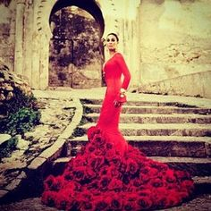 Rose inspired gown