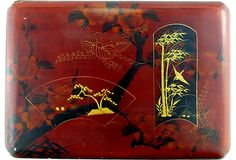 SOLD! Red Lacquer Box w/ Gold Decoration on @One Kings Lane Vintage & Market Finds by Ruby + George