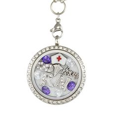 Perfect Locket for a #Registered #Nurse! Not Sold in Stores!! - Material: Stainless Steel Locket and Chain - Locket Size: 30 mm - Chain Size 30 inch - **All Charms In Picture Included** #christmas #gifts