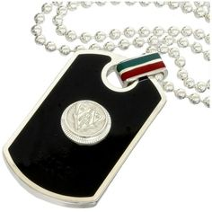 Pre-owned Gucci Sterling Silver Crest Dog Tag Ball Chain Pendant... ($560) ❤ liked on Polyvore featuring jewelry, necklaces, dog tag pendant, chain necklaces, sterling silver ball chain necklace, sterling silver pendants and sterling silver necklace