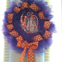 Clemson Deco-Mesh Wreath