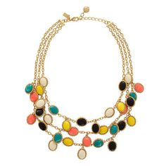 This necklace from kate spade has some of your best colors in it! Its a great piece to add some flare and color to any neutrals!