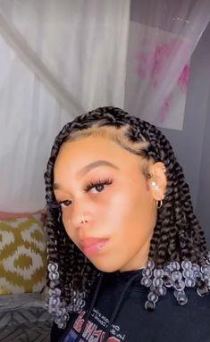 Box Braids Hairstyles For Black Women, Braids Hairstyles Pictures, Black Girl Braided Hairstyles, Twist Braid Hairstyles, African Braids Hairstyles, Baddie Hairstyles, Braids For Black Hair, Hair Pictures, Faux Locs Hairstyles