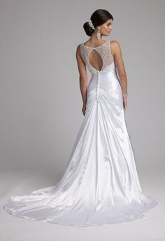 Scattered Illusion Neckline Wedding Dress from Camille La Vie and Group USA