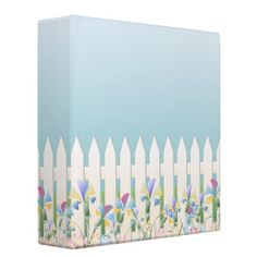 Garden Fence and Flowers Binder