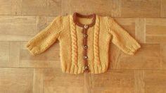 Mustard Cable Knit Sweater Years Old Baby Knitwear Chunky Yellow Sweater With Brown Hems Christmas Jumper Mustard Cardigan Mustard Cardigan, Sweater Cardigan, 3 Years Old Baby, Christmas Jumpers, Yellow Sweater, Cable Knit Sweaters, Vintage Children, Baby Knitting, Knitwear