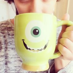 Who doesn't love to have their morning coffee in this adorable monster coffee mug! #Coffee #CoffeeMug