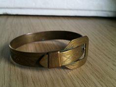 """bracelet engraved """"TIROL"""" 1914/1918 Trench Art WW1"""