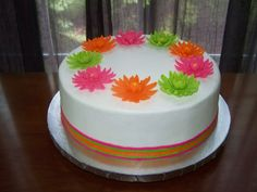 Gerber Daisy Shower Cake