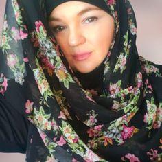 Black floral chiffon shawl or square hijab muslim hijab fashion made in USA Chiffon Shawl, Floral Chiffon, Chiffon Fabric, Hard Working Women, Working Woman, Muslim Hijab, Medical Scrubs, Hijab Fashion, Floral Prints