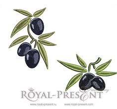 Machine Embroidery Designs - Olives - 2 in 1