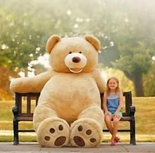 """TOP SIZE HUGE TEDDY BEAR (ONLY COVER) PLUSH TOY SHELL 340CM  (WITH ZIPPER) 133"""""""