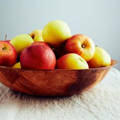 "Victor S from ifoodblogger.com says, ""1/4 of a bushel of apples in the 16 inch woven wood bowl"" #apples"