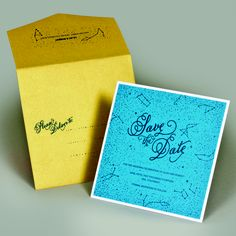 Indigo Envelope's talented designers drew constellations and scattered stars onto this save the date, for star-crossed lovers who were into astronomy. #nerdyweddings #savethedate #indigoenvelope